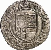 1 Testone - Bonifacio IV Paleologo – avers