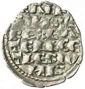 Dinero Alphonse X six lines marque Croix grecque – avers