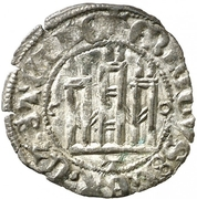 Dinero Henri III Tolède – avers