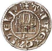 Dinero Alphonse X León – avers