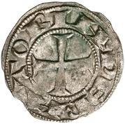 Dinero Alphonse VII León -  revers