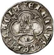 ½ real Henri III Burgos – revers