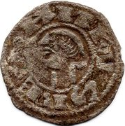 Dinero Alphonse I d'Aragon Tolède -  avers