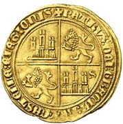 35 maravedis Pierre I Séville – revers