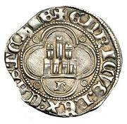 ½ real Henri II Burgos – revers