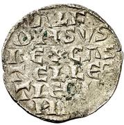 Dinero - Alfonso X (six lines,mark diamond) – avers