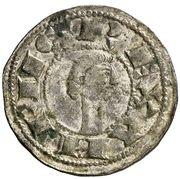 Dinero Alphonse VIII Tolède – avers