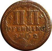 4 Pfennig – revers