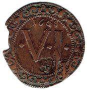 6 pfennig (chapitre de la cathédrale) – revers