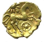 ¼ de statère d'or (Atrébates) – revers