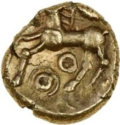 Gold ¼ Stater (Atrebatic C; Commius) – revers