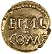 Gold ¼ Stater (Atrebatic H; Eppillus) – avers