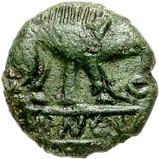 Bronze Unit (Cantian K; Dubnovellaunus) – avers