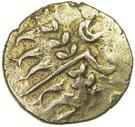 "Statère d'or ""Durotrigan B"" ou ""Chute type"" (Durotriges) – avers"