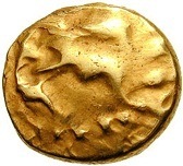 ¼ Gold Stater (Gallo-Belgic D) – avers