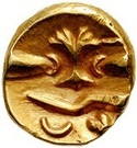 ¼ Gold Stater (Gallo-Belgic D) – revers