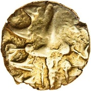 ¼ Gold Stater (Dobunnic A) – avers