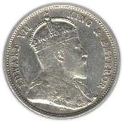 50 cents - Edouard VII – avers