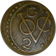 2 stuiver (Compagnie Hollandaise des Indes) – avers