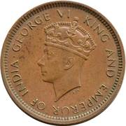 ½ cent - George VI – avers