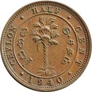 ½ cent - George VI – revers