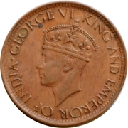 1 cent - George VI – avers