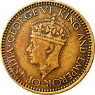 25 cents - George VI – avers