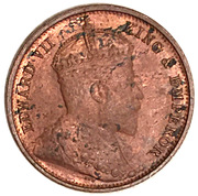 ½ cent - Edward VII – avers