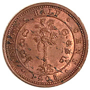 ½ cent - Edward VII – revers