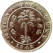 1 cent - George VI (Essai) – revers