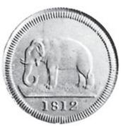 2 Rixdollars (Essai) – revers