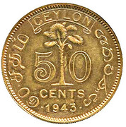 50 Cents - George VI (Essai) – revers
