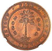 5 Cents - Edward VII (Essai) – revers