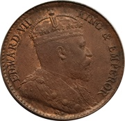 ¼ cent - Edward VII – avers