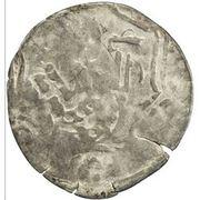 Dirham - temp. Chapar bin Kaidu - under Kaidu bin Kashin (tamgha countermark) – revers