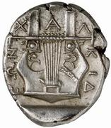Tetradrachm (Olynthos) – revers