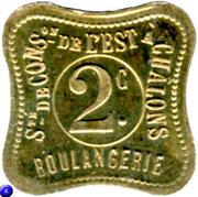 2 centimes - Sté de consommation de l'Est, Boulangerie -Chalons [51] – avers