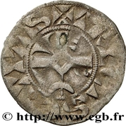 Denier au croissant - Henri II -  revers