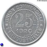 25 centimes - Union Commerciale et Industrielle - Charlieu [42] – revers