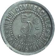 5 centimes - Charlieu (42) – revers