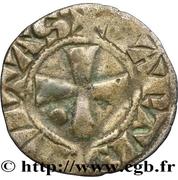 Denier anonyme attribué à Jean et Jeanne de Châtillon – revers