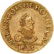 Liard au petit buste - François de Bourbon-Conti – avers