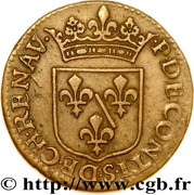 Liard au petit buste - François de Bourbon-Conti – revers