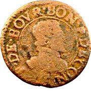 Double-Tournois François de Bourbon-Conti (Type 17) – avers