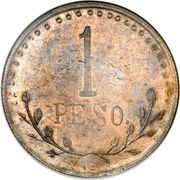 1 peso - Chihuahua – revers