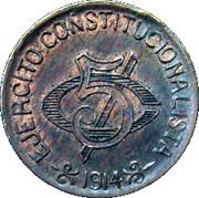 5 centavos (Constitutionalist Army) – revers