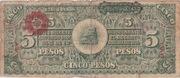 5 Pesos (Constitutionalist Army) – revers