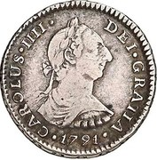 1 Real - Carlos IIII, bust of Carlos III (Colonial Milled Coinage) – avers