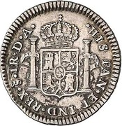 1 Real - Carlos IIII, bust of Carlos III (Colonial Milled Coinage) – revers