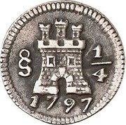 1/4 Real - Carlos III (With Mintmark) – avers